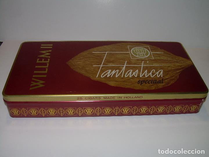 Cajas de Puros: CAJA METALICA LITOGRAFIADA LLENA CON DE 25 PUROS..WILLEM II. - Foto 3 - 90760745