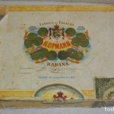 Cajas de Puros: CAJA DE PUROS HABANOS, VACIA MARCA HUPMAN, (EPOCA PRE- REVOLUCION), HAVANA-CUBA. Lote 92251210