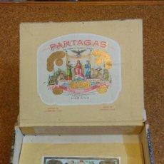 Cajas de Puros: CAJA VACÍA PUROS FLOR DE TABACOS PARTAGAS Y CIA. HABANA. . Lote 93336490