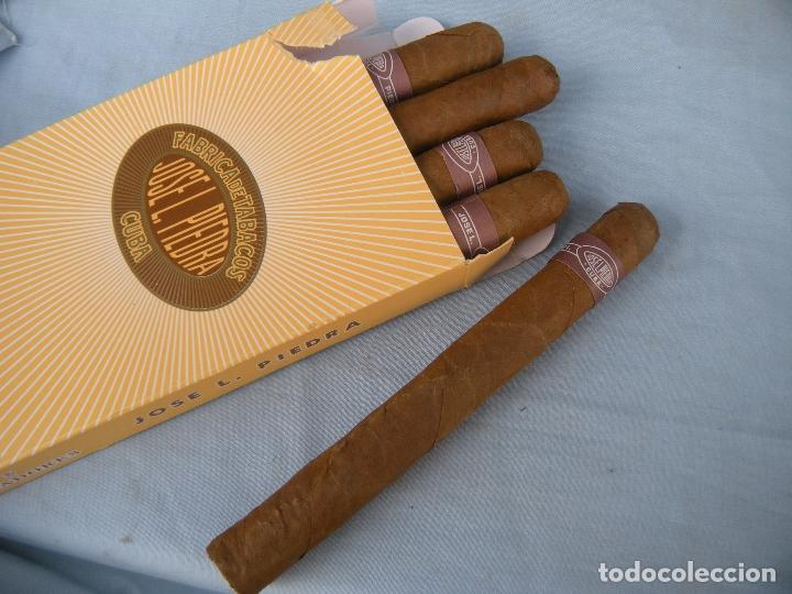 CAJA DE PUROS CUBANOS CINCO CAZADORES JOSÉ LUIS PIEDRA, CUBA (Coleccionismo - Objetos para Fumar - Cajas de Puros)
