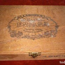 Cajas de Puros: ANTIGUA CAJA PUROS LABORES ESPAÑA SINDICATO DE FABRICANTES DE TABACOS. Lote 95637063