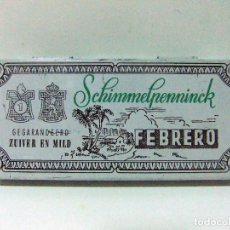 Cajas de Puros: CAJA LATA METAL VACÍA TABACO SCHIMMELPENNINCK FEBRERO 10 CIGARROS SUAVES PURO CIGARRO HOLLAND. Lote 95658315