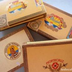 Cajas de Puros: CAJAS PUROS CANARIOS VACIAS. MONTECRUZ Y 3 DE PEÑAMIL #FV-R. Lote 99224351