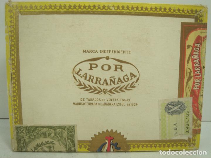 ANTIGUA CAJA DE PUROS MADERA -POR LARRAÑAGA MARCA INDEPENDIENTE- 25 CUBANOS N.I-VUELTA ABAJO TABACO (Coleccionismo - Objetos para Fumar - Cajas de Puros)