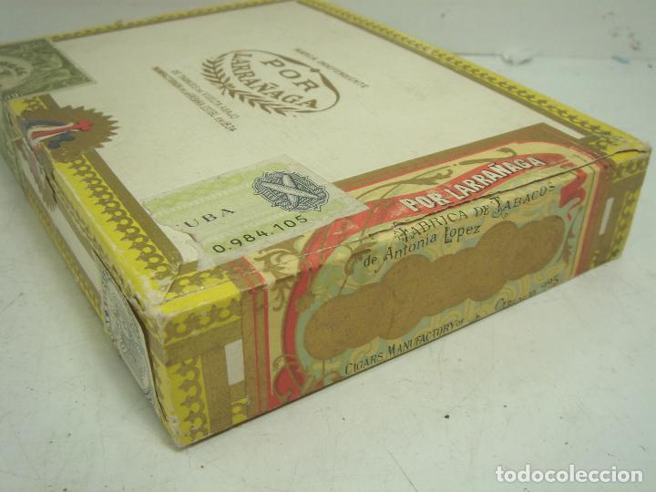 Cajas de Puros: ANTIGUA CAJA DE PUROS MADERA -POR LARRAÑAGA MARCA INDEPENDIENTE- 25 CUBANOS N.I-VUELTA ABAJO TABACO - Foto 3 - 99464883