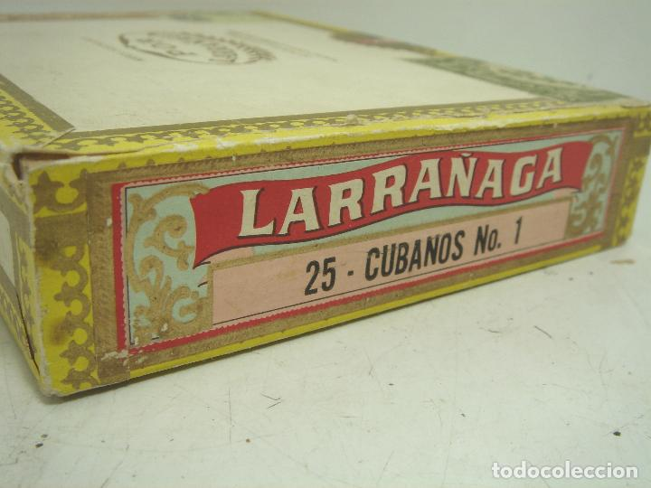 Cajas de Puros: ANTIGUA CAJA DE PUROS MADERA -POR LARRAÑAGA MARCA INDEPENDIENTE- 25 CUBANOS N.I-VUELTA ABAJO TABACO - Foto 4 - 99464883