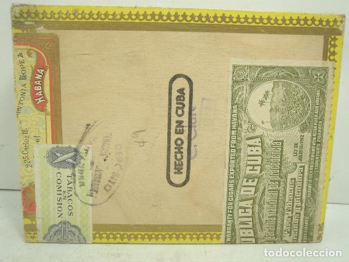 Cajas de Puros: ANTIGUA CAJA DE PUROS MADERA -POR LARRAÑAGA MARCA INDEPENDIENTE- 25 CUBANOS N.I-VUELTA ABAJO TABACO - Foto 5 - 99464883