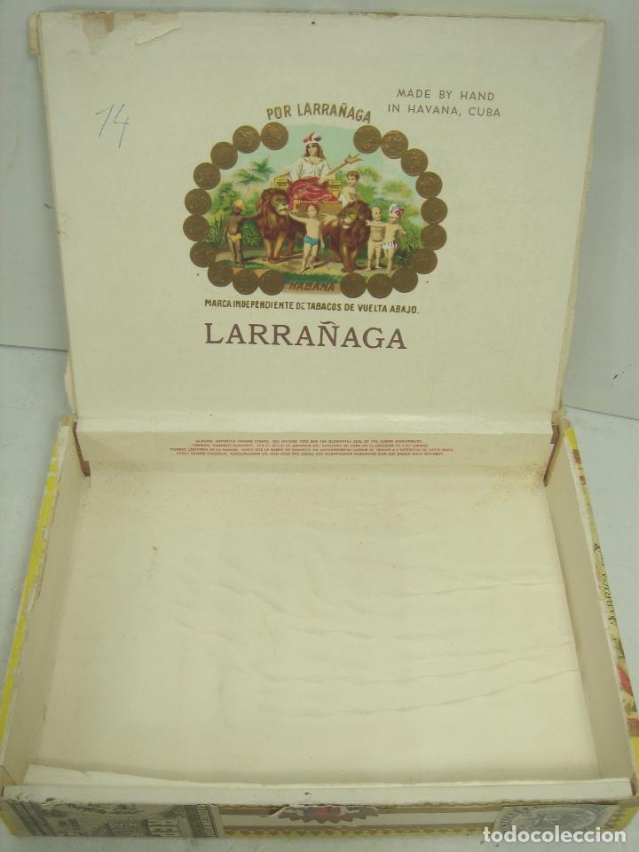 Cajas de Puros: ANTIGUA CAJA DE PUROS MADERA -POR LARRAÑAGA MARCA INDEPENDIENTE- 25 CUBANOS N.I-VUELTA ABAJO TABACO - Foto 6 - 99464883