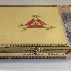 Cajas de Puros: CAJA PUROS ANTIGUA VACIA MONTECRISTO HABANA CUBA. Lote 99523859