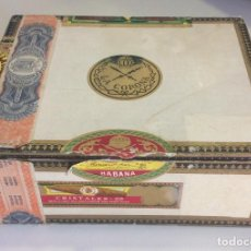 Cajas de Puros: CAJA PUROS ANTIGUA VACIA LA CORONA HABANA CUBA. Lote 101000758