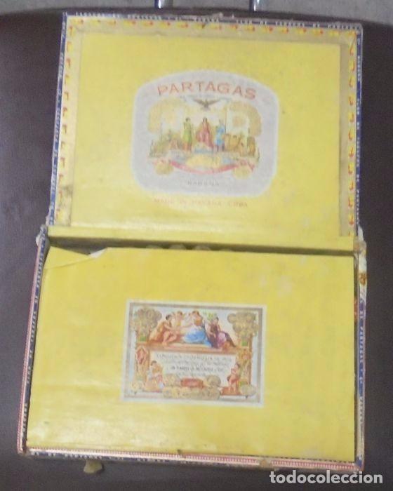 Cajas de Puros: CAJA DE PUROS. Partagas y Cia. 25 Partagas Londres extra. Año 1995. Abierta. Ver fotos - Foto 6 - 142762876