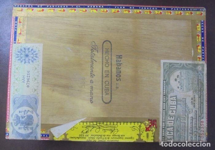 Cajas de Puros: CAJA DE PUROS. Partagas y Cia. 25 Partagas Londres extra. Año 1995. Abierta. Ver fotos - Foto 8 - 142762876
