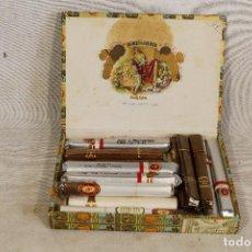 Cajas de Puros: CAJA DE PUROS ROMEO Y JULIETA CON LOTE DE 17 PUROS VARIOS. Lote 100278491