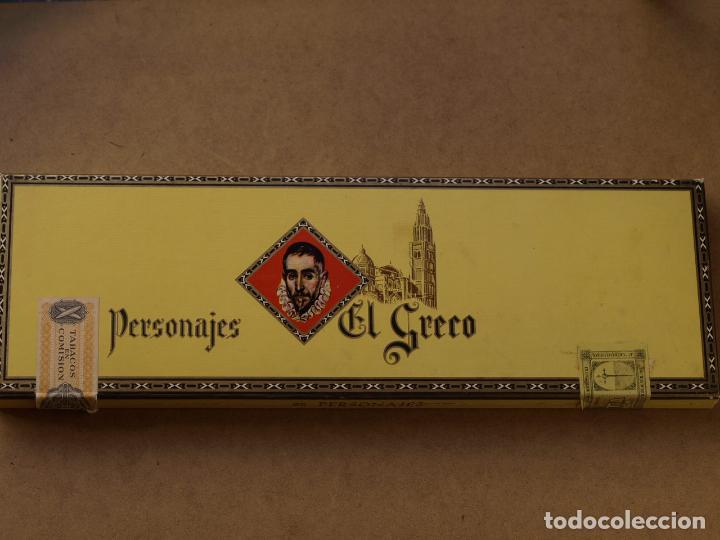CAJA PUROS PERSONAJES EL GRECO (INCOMPLETA) (Coleccionismo - Objetos para Fumar - Cajas de Puros)