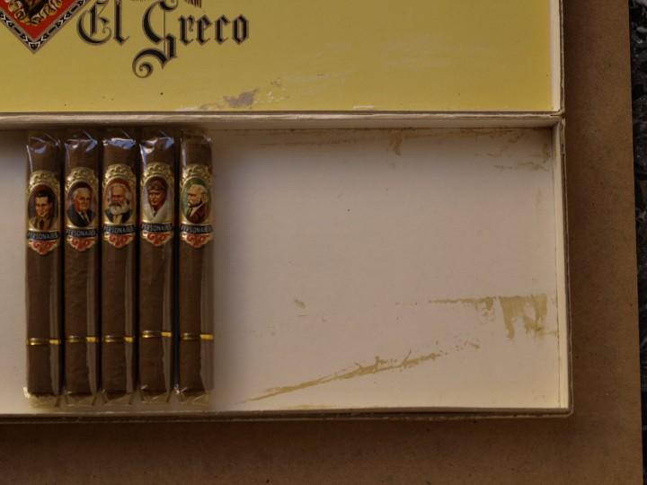 Cajas de Puros: CAJA PUROS PERSONAJES EL GRECO (INCOMPLETA) - Foto 4 - 103425335
