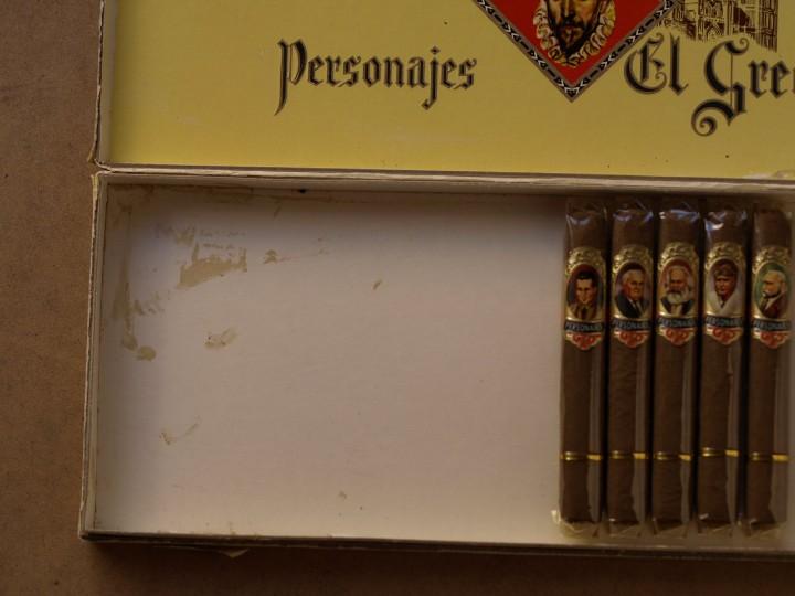 Cajas de Puros: CAJA PUROS PERSONAJES EL GRECO (INCOMPLETA) - Foto 5 - 103425335