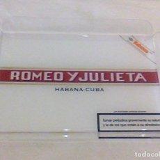 Cajas de Puros: ROMEO Y JULIETA HABANA CUBA BANDEJA METRAQUILATO EXPOSITORA PUROS HABANOS 28 X 20 X 3 CM. Lote 103572231
