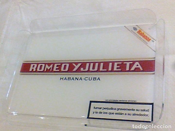 Cajas de Puros: ROMEO Y JULIETA HABANA CUBA BANDEJA METRAQUILATO EXPOSITORA PUROS HABANOS 28 X 20 X 3 CM - Foto 2 - 103572231