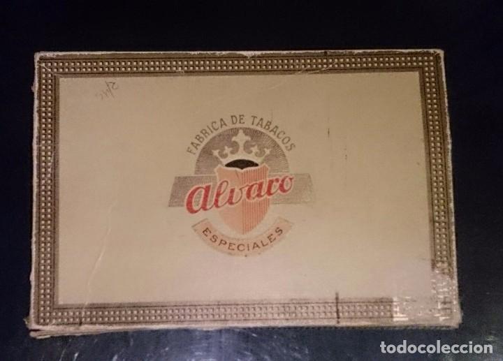 CAJA PUROS ALVARO ESPECIALES, 25 DON ALVARO. VACÍA. (Coleccionismo - Objetos para Fumar - Cajas de Puros)
