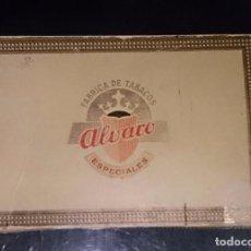 Cajas de Puros: CAJA PUROS ALVARO ESPECIALES, 25 DON ALVARO. VACÍA.. Lote 104466367