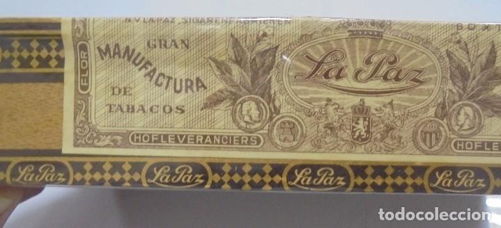 Cajas de Puros: CAJA DE PUROS. LA PAZ. CERRADA. 25 PUROS. AÑO 1966. VER. PERFECTO ESTADO - Foto 3 - 105253123