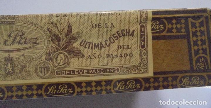 Cajas de Puros: CAJA DE PUROS. LA PAZ. CERRADA. 25 PUROS. AÑO 1966. VER. PERFECTO ESTADO - Foto 4 - 105253123
