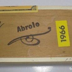 Cajas de Puros: CAJA DE PUROS. ABROLO. CERRADA. 50 PUROS. AÑO 1966. VER. PERFECTO ESTADO. Lote 105253311