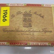 Cajas de Puros: CAJA DE PUROS. LA FLOR DE LA ISABELA. MANILA. CERRADA. 25 CORONAS. AÑO 1966. VER. PERFECTO ESTADO. Lote 105253567