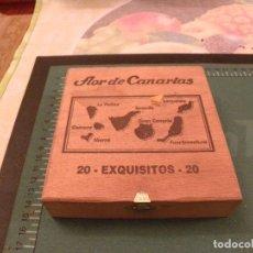 Cajas de Puros: CAJA PUROS FLOR DE CANARIAS VACIA. Lote 105371959