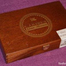 Cajas de Puros: DE COLECCIÓN - CAJA DE CIGARROS / PUROS - CON 3 PUROS - LA FLOR DE LOS CARIBES GRAN RESERVA . Lote 105823475