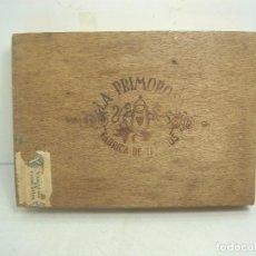 Cajas de Puros: ANTIGUA CAJA DE PUROS MADERA-LA PRIMOROSA-25 MEDIAS CORONAS -BOCETON-25 PETIT CORONAS- PURO TABACO. Lote 107350975