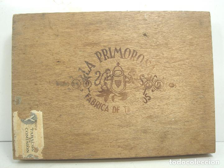 Cajas de Puros: ANTIGUA CAJA DE PUROS MADERA-LA PRIMOROSA-25 MEDIAS CORONAS -BOCETON-25 PETIT CORONAS- PURO TABACO - Foto 2 - 107350975