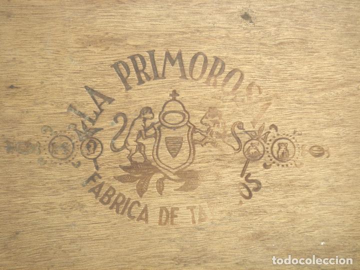 Cajas de Puros: ANTIGUA CAJA DE PUROS MADERA-LA PRIMOROSA-25 MEDIAS CORONAS -BOCETON-25 PETIT CORONAS- PURO TABACO - Foto 3 - 107350975