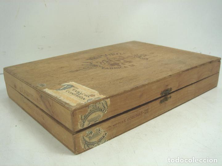 Cajas de Puros: ANTIGUA CAJA DE PUROS MADERA-LA PRIMOROSA-25 MEDIAS CORONAS -BOCETON-25 PETIT CORONAS- PURO TABACO - Foto 4 - 107350975