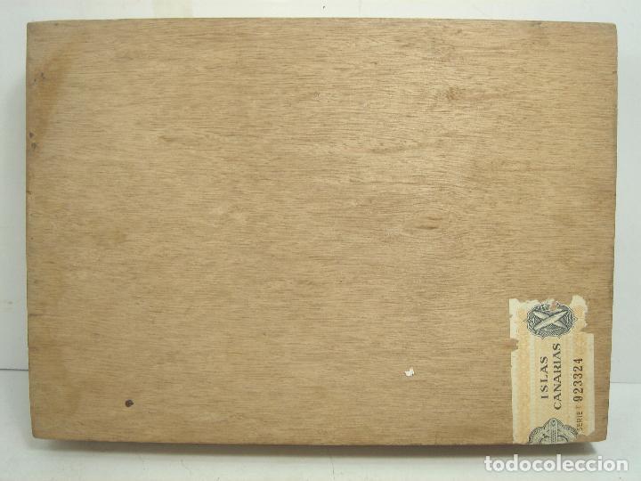 Cajas de Puros: ANTIGUA CAJA DE PUROS MADERA-LA PRIMOROSA-25 MEDIAS CORONAS -BOCETON-25 PETIT CORONAS- PURO TABACO - Foto 6 - 107350975