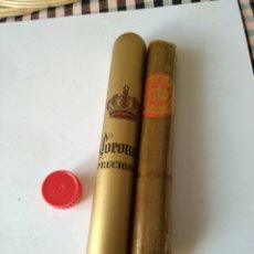 Cajas de Puros: FUNDA Y PURO CORONA PRECIOSA. Lote 107826907