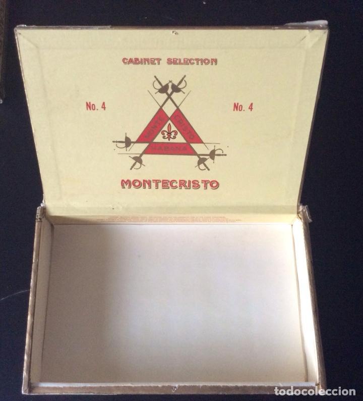 Cajas de Puros: CAJA DE PUROS MONTECRISTO NÚMERO 4 - Foto 2 - 109489211