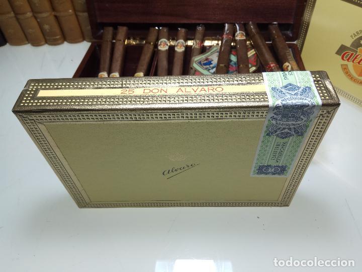 Cajas de Puros: GRAN LOTE COMPUESTO POR DOS CAJAS DE PUROS ALVARO CERRADOS, 25 SALUDOS + 25 DON ALVAROS Y MUCHO MAS - Foto 4 - 109895443