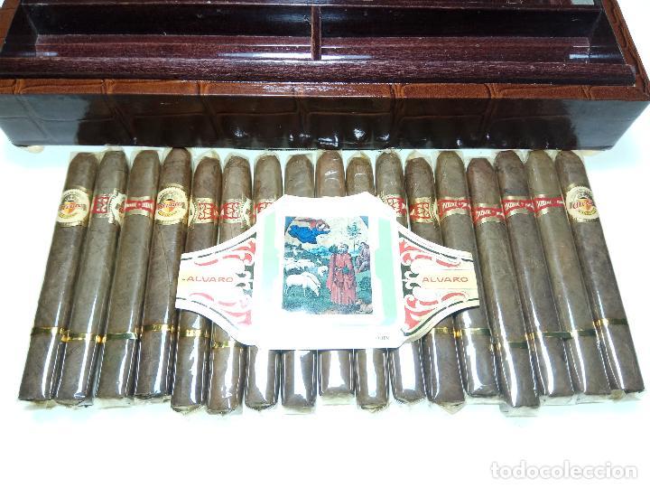 Cajas de Puros: GRAN LOTE COMPUESTO POR DOS CAJAS DE PUROS ALVARO CERRADOS, 25 SALUDOS + 25 DON ALVAROS Y MUCHO MAS - Foto 7 - 109895443