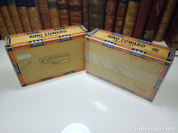 Cajas de Puros: INTERESANTE LOTE COMPUESTO POR DOS CAJAS DE PUROS KING EDWARD - 50 PUROS NUEVA PRECINTADA,OTRA VACIA - Foto 4 - 109899067