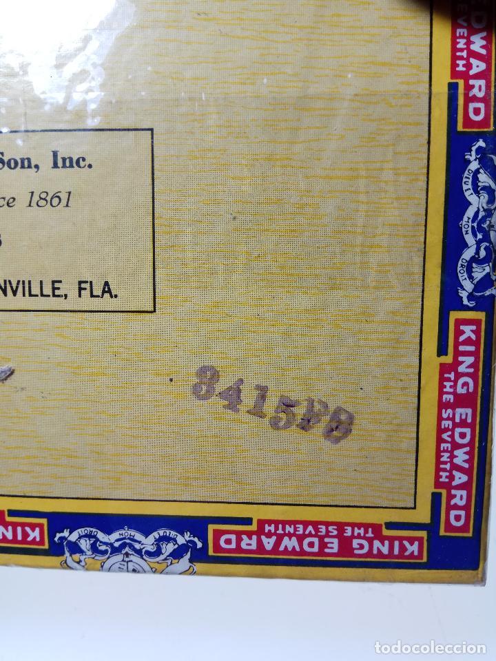 Cajas de Puros: INTERESANTE LOTE COMPUESTO POR DOS CAJAS DE PUROS KING EDWARD - 50 PUROS NUEVA PRECINTADA,OTRA VACIA - Foto 6 - 109899067