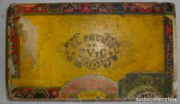 CAJA PEQUEÑA DE PUROS HABANOS EL PREMIO (VACIA) PRE-REVOLUCION (Coleccionismo - Objetos para Fumar - Cajas de Puros)