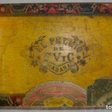 Cajas de Puros: CAJA PEQUEÑA DE PUROS HABANOS EL PREMIO (VACIA) PRE-REVOLUCION. Lote 110185807