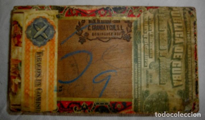 Cajas de Puros: CAJA PEQUEÑA DE PUROS HABANOS EL PREMIO (VACIA) PRE-REVOLUCION - Foto 3 - 110185807