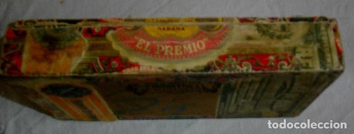 Cajas de Puros: CAJA PEQUEÑA DE PUROS HABANOS EL PREMIO (VACIA) PRE-REVOLUCION - Foto 4 - 110185807