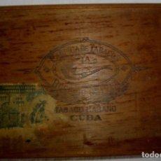 Cajas de Puros: CAJA DE PUROS HABANOS .-CUBA LA CACHIMBA (VACIA) PRE REVOLUCION. Lote 110186155
