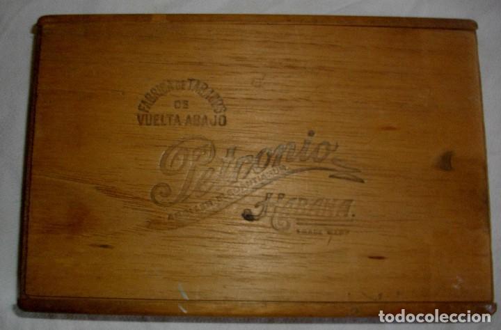 CAJA DE PUROS HABANOS PETRONIO (VACIA) EPOCA PRE-REVOLUCION (Coleccionismo - Objetos para Fumar - Cajas de Puros)