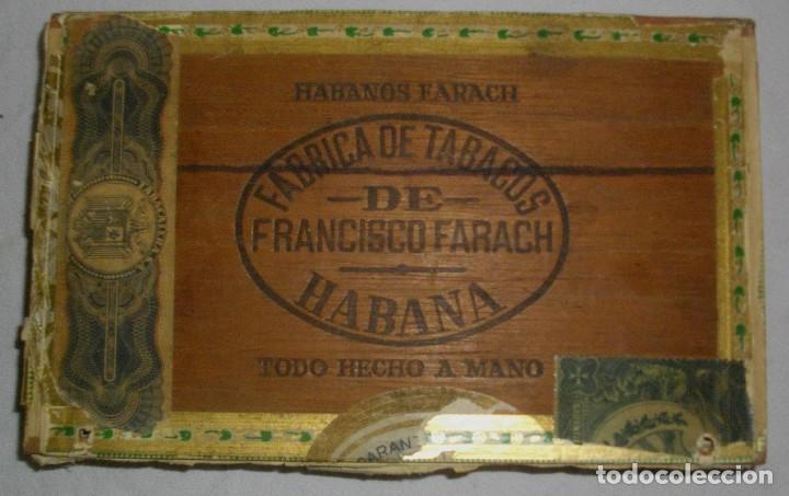 CAJA DE PUROS HABANOS .-CUBA LA FLOR DE FARACHS (VACIA) PRE REVOLUCION (Coleccionismo - Objetos para Fumar - Cajas de Puros)
