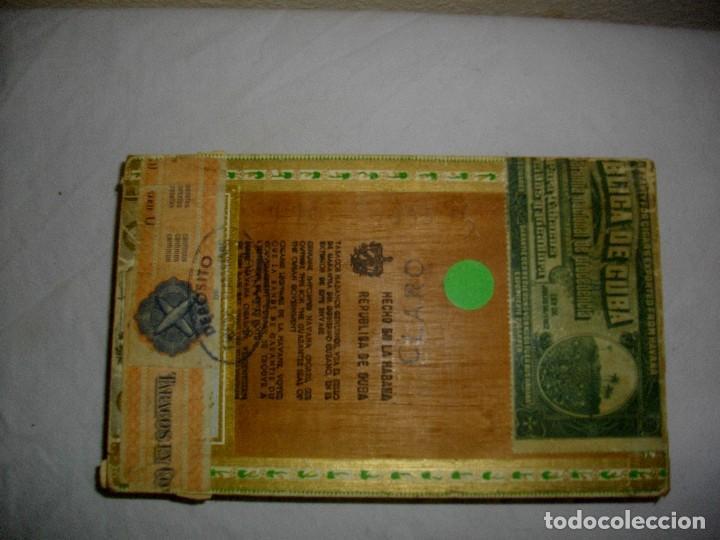 Cajas de Puros: CAJA DE PUROS HABANOS .-CUBA LA FLOR DE FARACHS (VACIA) PRE REVOLUCION - Foto 3 - 110190735