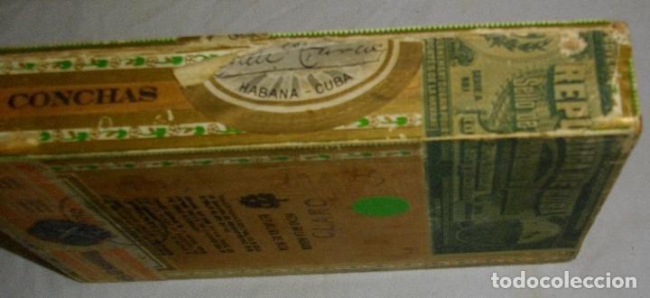 Cajas de Puros: CAJA DE PUROS HABANOS .-CUBA LA FLOR DE FARACHS (VACIA) PRE REVOLUCION - Foto 4 - 110190735